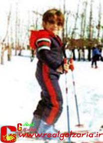 عکس محمدرضا گلزار در کوه و اسکی
