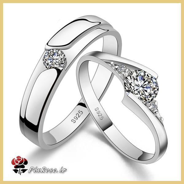 حلقه های ازدواج  طلا سفید