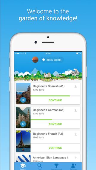 دانلود نرم افزار آندروید آموزش زبان Memrise Learn Languages Free 2.1