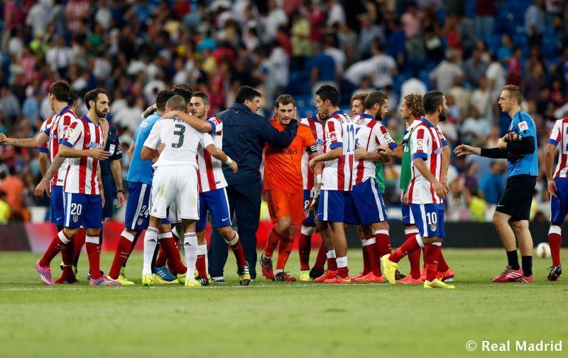 کاسیاس در بازی با اتلتیکو مادرید