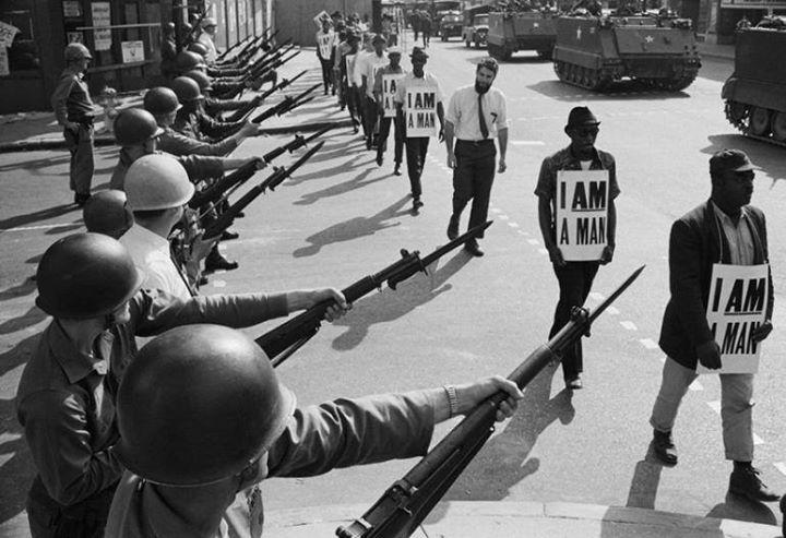 تظاهرات و اعتراض مردم امریکا در اعتراض به ترور  مارتین لوترکینگ