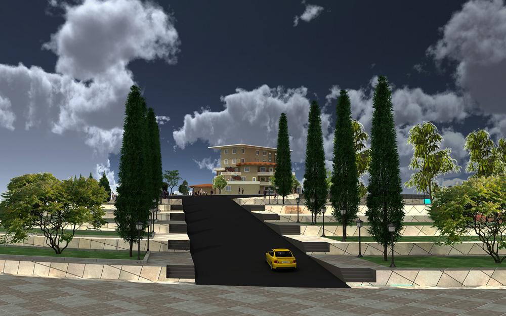 طراحی سه بعدی هتل توریستی
