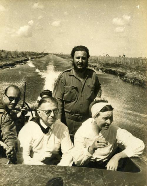 ژان پل سارتر ، سیمون دوبوار ، فیدل کاسترو ، چهگوارا