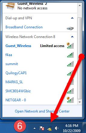 6 اتصال به اینترنت وایرلس در ویندوز 7 -ساخت کانکشن