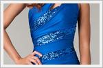 مدل پیراهن کوتاه زنانه آبی