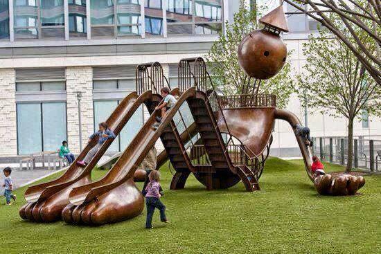 عکس جالب پارک و سرسره های شکل آدمک واسه بچه ها