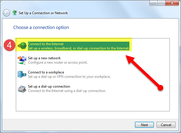 4 اتصال به اینترنت وایرلس در ویندوز 7 -ساخت کانکشن