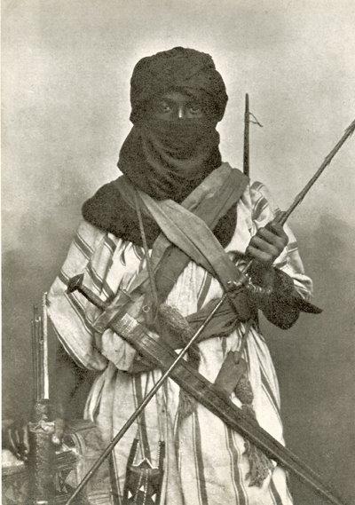 """یک جنگجوی بربر """"قوم موریش"""" در شمال افریقا"""