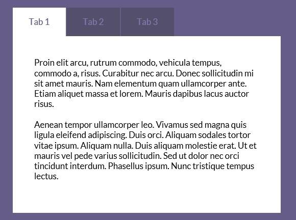 آموزش ساخت تب منوی افقی با CSS و HTML