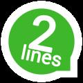 نرم افزار ایجاد چند اکانت واتس اپ در اندروید 2lines for Whatsapp 1.2.4