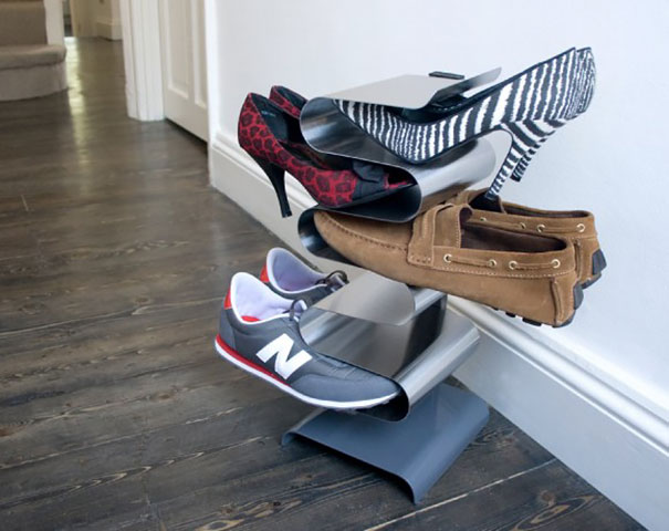 طراحی خلاقانه جا کفشی برای استفاده حداکثری از فضا