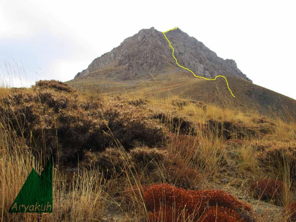 مسیر صعود به قله شیورکش