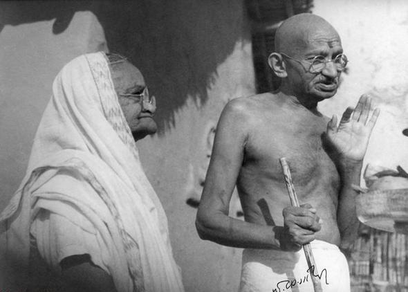 گاندی رهبر آزادیخواهان هند