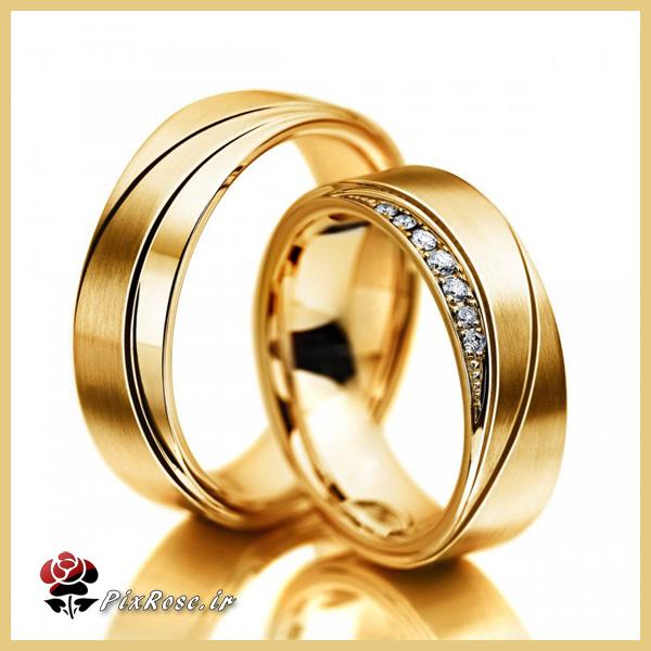 حلقه های ازدواج طلای زرد