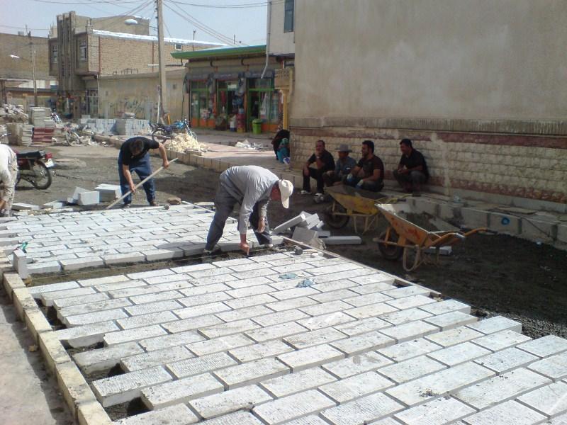 شهر آبگرم+پروژه+سنگ فرش+آبگرم