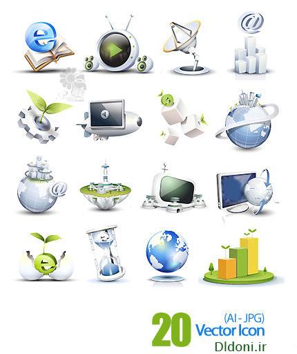 پک آیکون بسیار جذاب و زیبا -20 vector icon