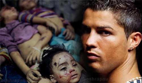 حمایت کریس رونالدو از کودکان غزه +فیلم
