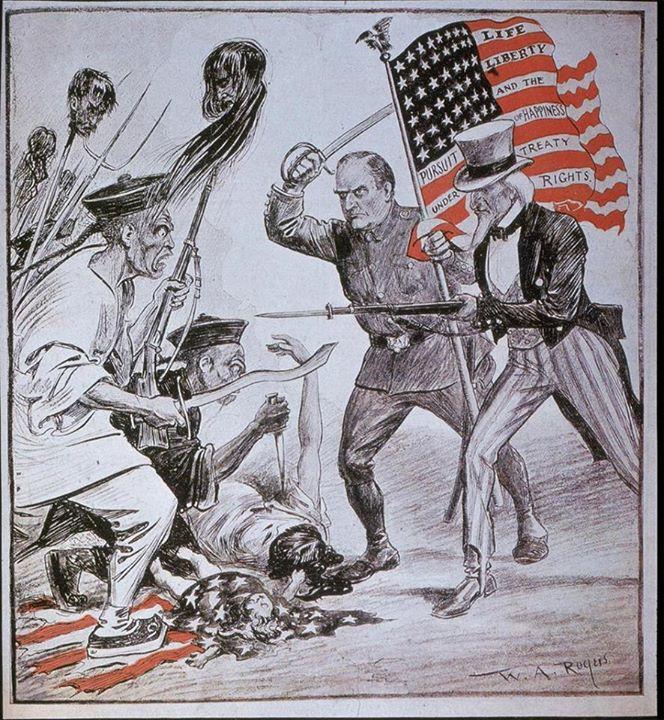 پوستر تبلیغاتی ارتش امریکا بر علیه شورش مشتزنها در چین