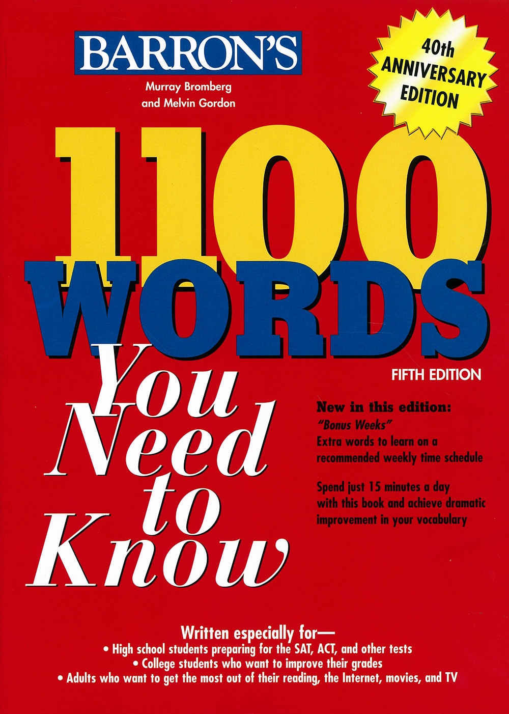دانلود کتاب Barrons 1100 Words You Need to Know 5th