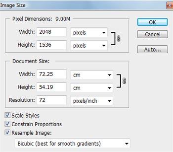 کاهش حجم تصویر در فوتوشاپ، آموزش، پروژه های دانشجویی