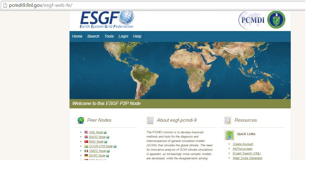 پایگاه ESGF-داده های روزانه مدل های GCM سری CMIP5