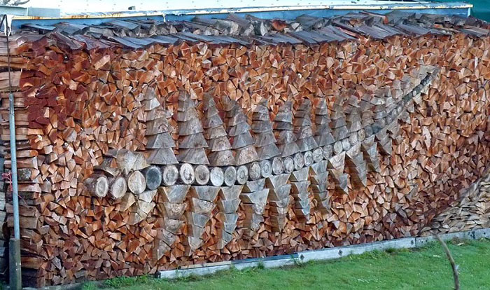 هنر چیدمان هیزوم به شکل برگ درخت