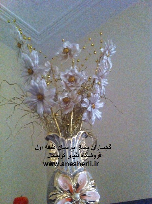مونتاژ گل کریستال ساده گلهای کریستالی - مطالب ابر رومیزی کریستالی