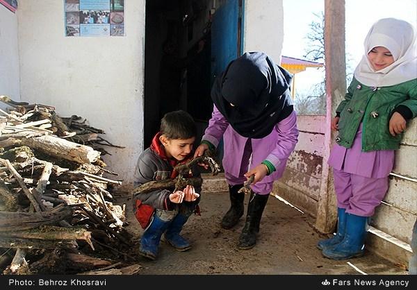 تصاویر مدرسه ابتدایی غلامعلی عرب روستای جنگلی زوارک