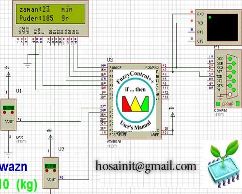 پروژه ماشین لباس شویی هوشمند(منطق فازی) با matlab,avr