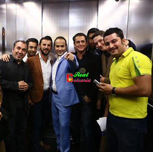 عکس محمدرضا گلزار امین حیایی سیامک انصاری با حسن ریوندی