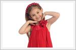 پیراهن دخترانه قرمز