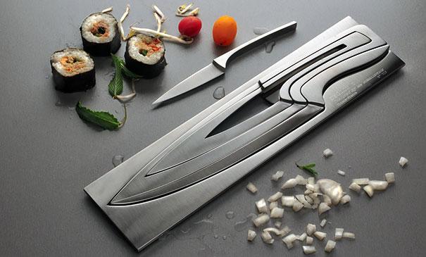 طراحی خلاقانه چاقو های تو در تو