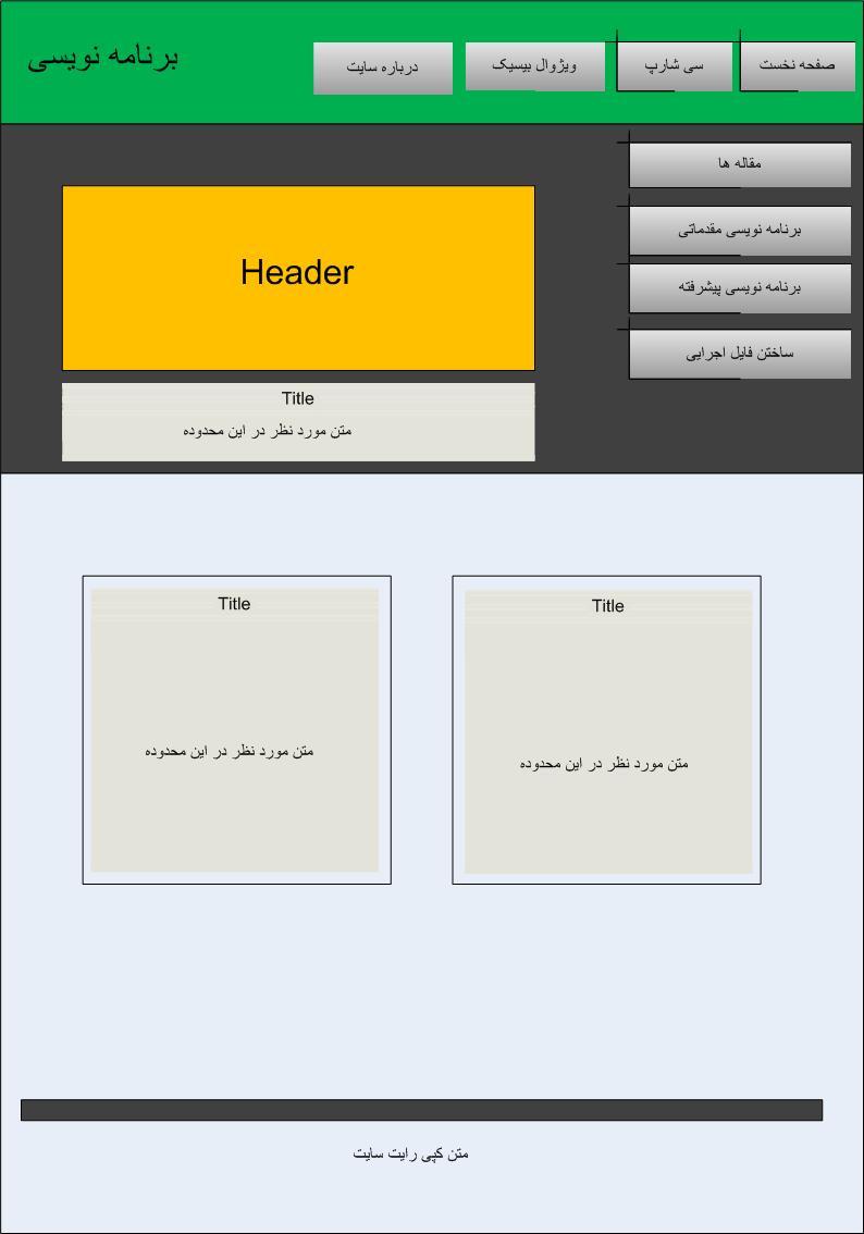 دانلود پروژه وب سایت html با پلن شماره 1