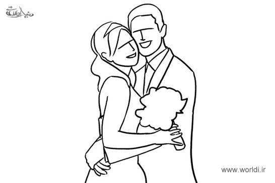 ژست های عروس و دامادی برای عکاسی