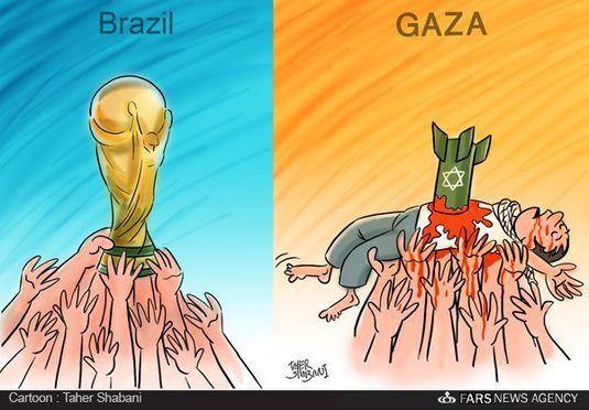 کاریکاتور-کاپ قهرمانی در غزه!