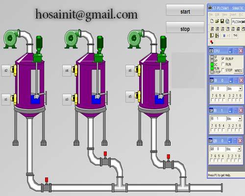 پروژه 3مخزن شیر با plc و wincc