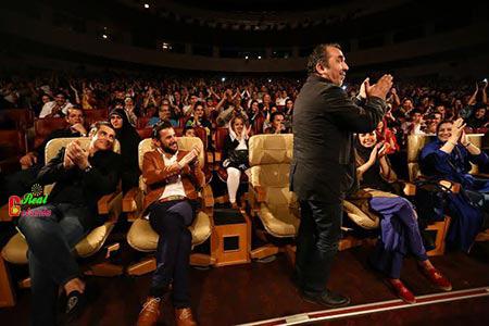 عکس محمدرضا گلزار و سیامک انصاری در جشن خنده ریوندی