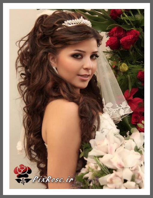 عروس با موی باز