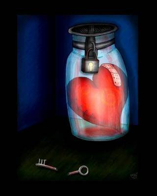 عکس جالب از قلب توی شیشه و زندان شدن