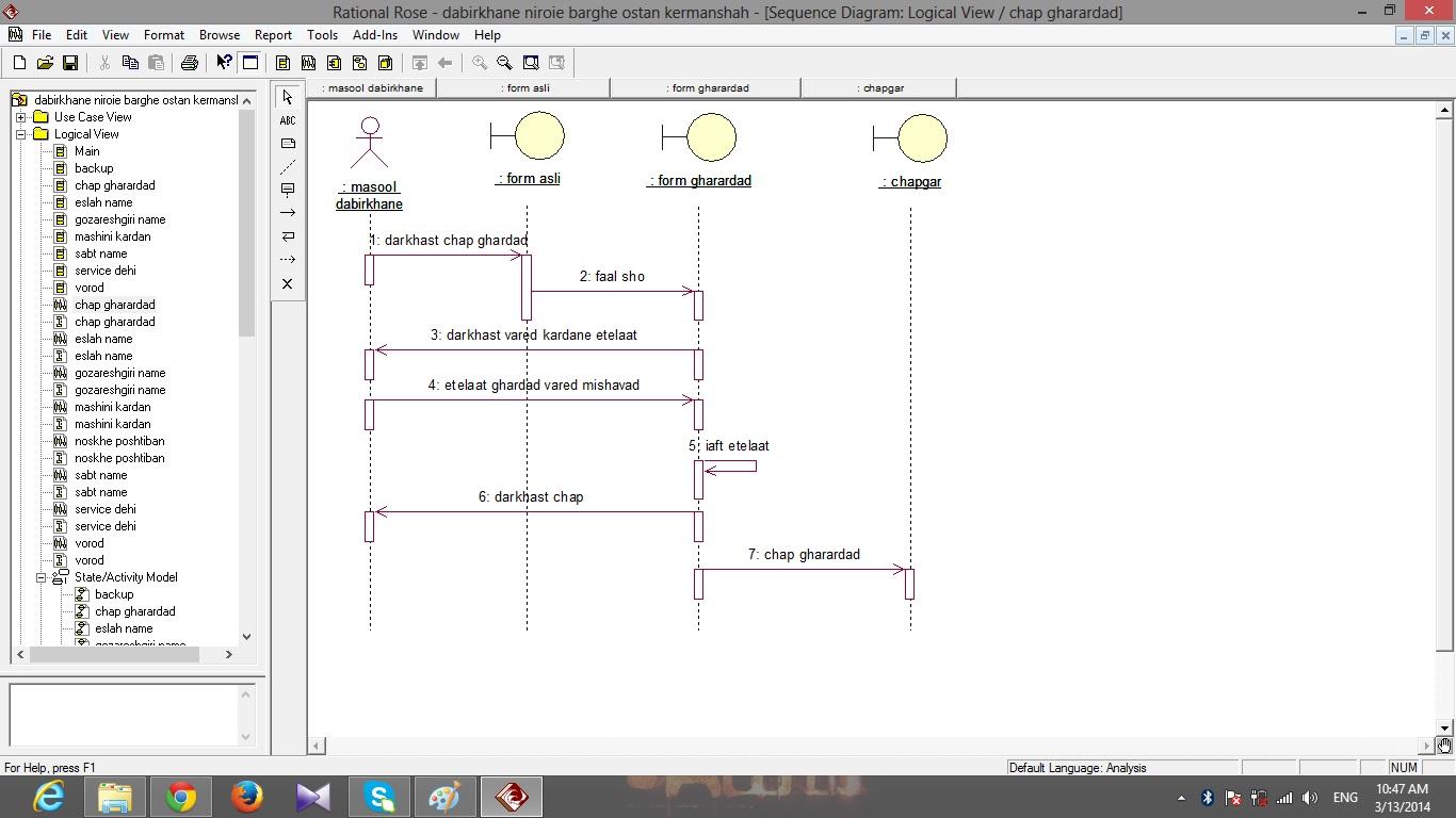 پروژه مهندسی نرم افزار تحلیل دبیرخانه شرکت برق استان کرمانشاه+ فایل رشنال رز و سناریو
