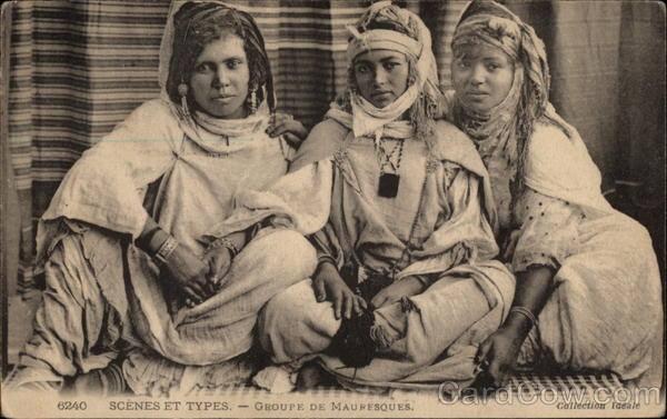 """گروهی از زنان بربر """"قوم موریش"""" در شمال افریقا"""