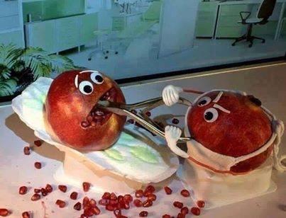 عکس طنز دندان پزشک های ایرانی شکل انار