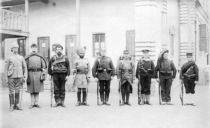 """نیروهای سرکوب کننده """" شورش مشتزنان """" چینی که از هشت کشور به چین اعزام شدند"""
