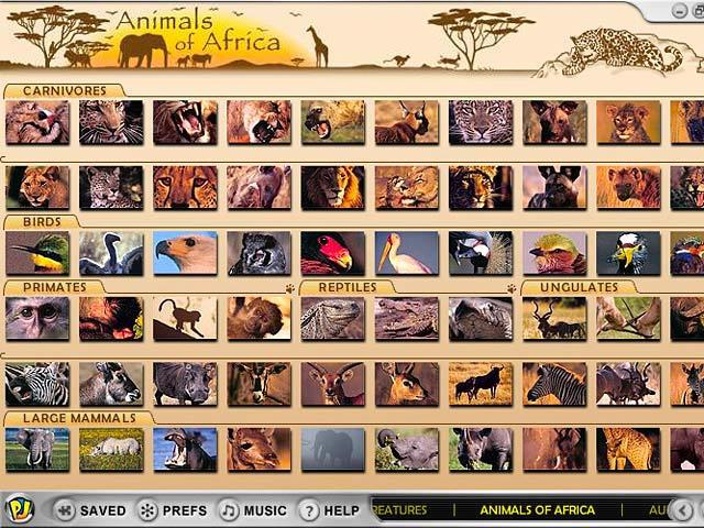 دانلود بازی کم حجم پازل تصاویر  Animals Of Africa