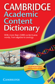 Cambridge Academic Content Dictionary 1.0